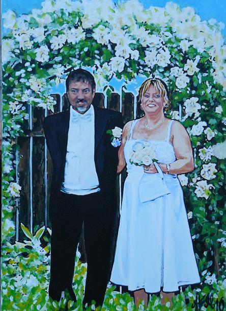 Bröllopsfotot blev ett porträtt