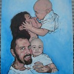 Familjeporträtt som var med i Sofias änglar på Kanal 5