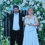 Bröllopsporträtt akryl 50x70 cm